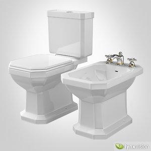 3d duravit bidet toilet 1930