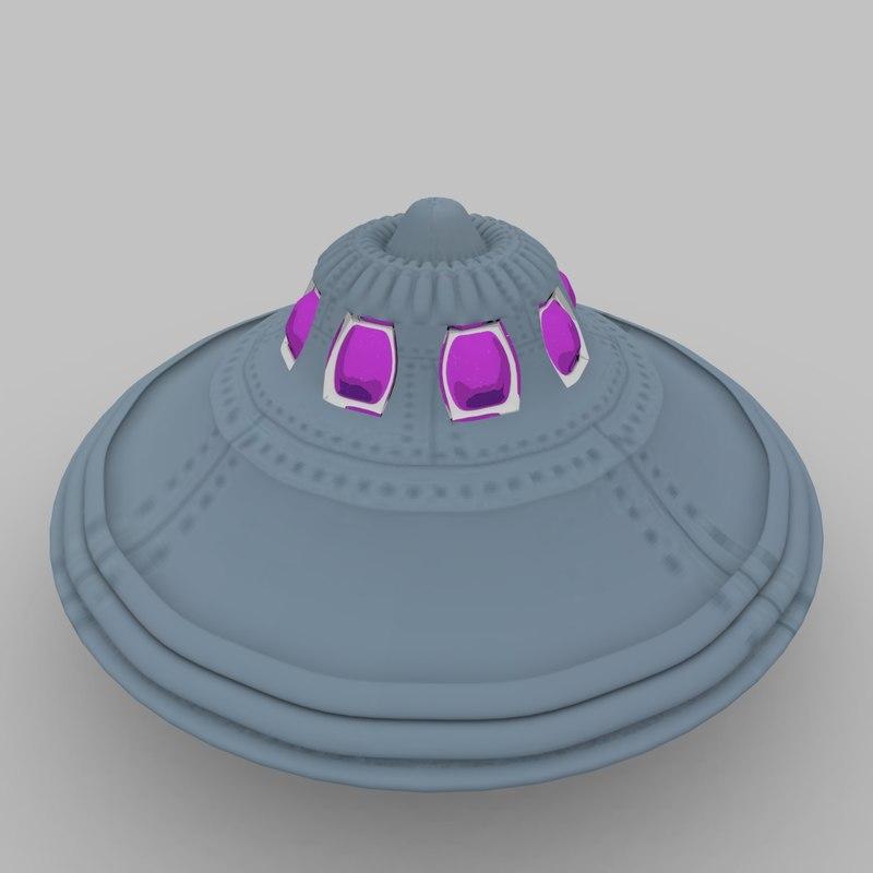 flying saucer alien 3d 3ds