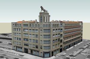 3d model tiger residential building