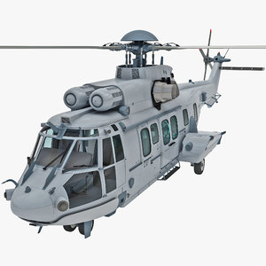 euro ec725 caracal tactical 3d model
