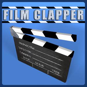 film clapper 3d model