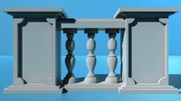 3d railings balcony
