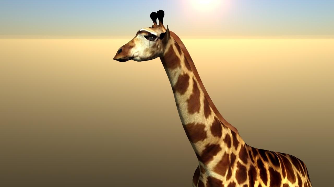 3d max giraffe animation lightwave