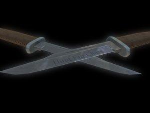 buck knife obj