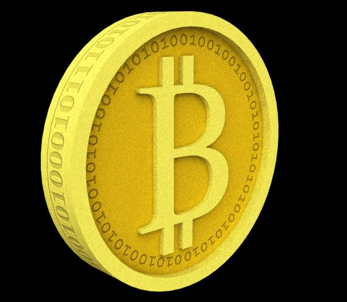 bitcoin coin 3d 3ds