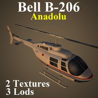 3d model bell helicopter