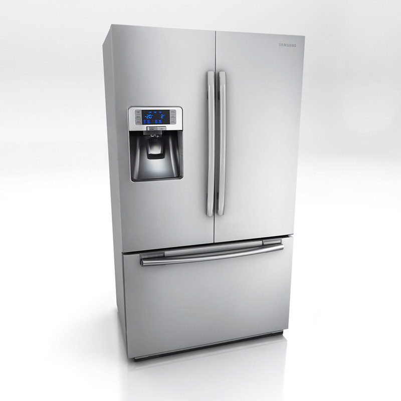 multi door refrigerator 3d 3ds