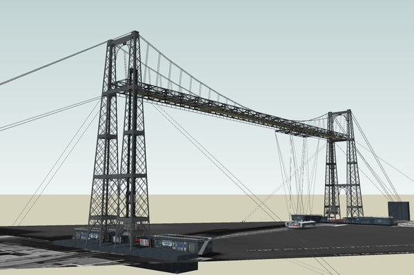 3d bizkaia transporter bridge architecture