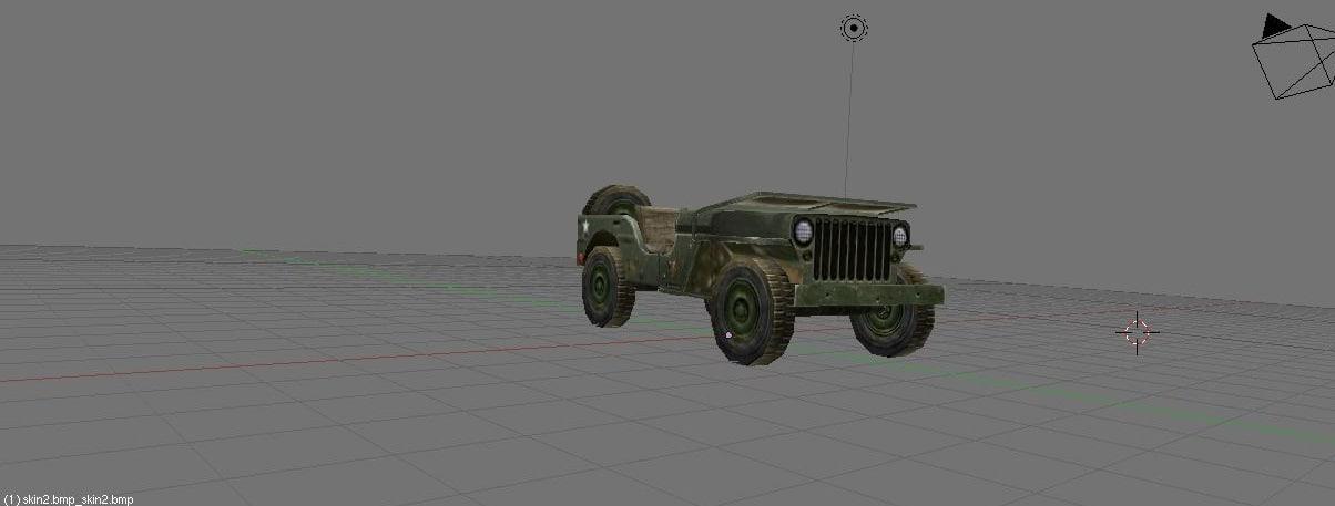 blender wwii jeep