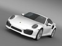 3d porsche 911 turbo 2013 model