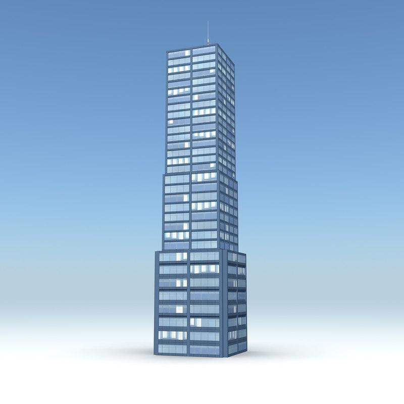 skyscraper 11 day night 3d obj
