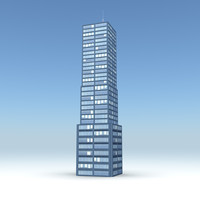 skyscraper 11 day night 3d obj
