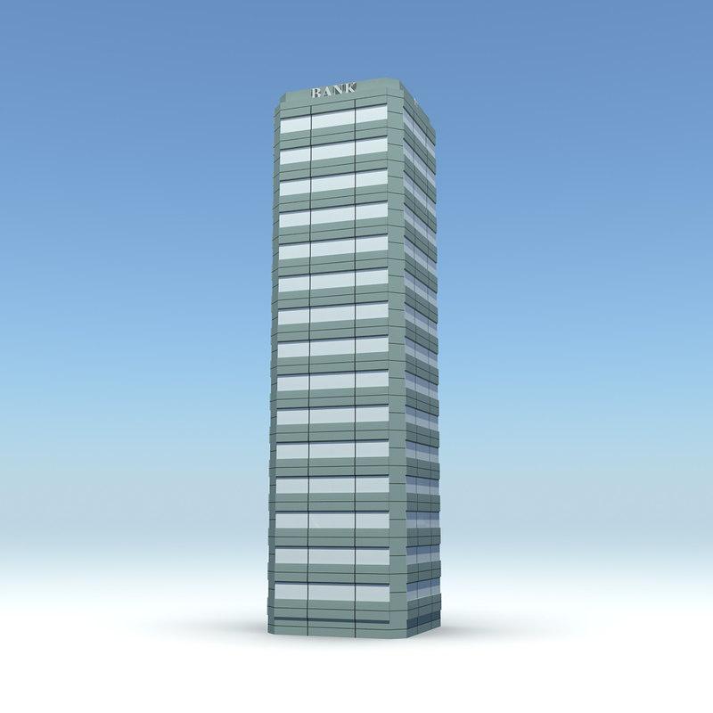 skyscraper 10 day night 3d model