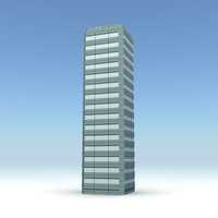 skyscraper 10 day night 3d model