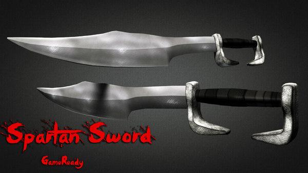 3d model of spartan sword