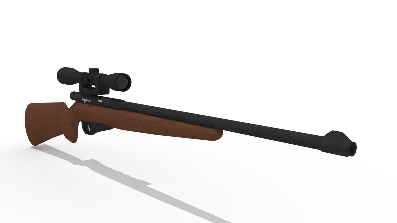 sniper rifle 3d 3ds