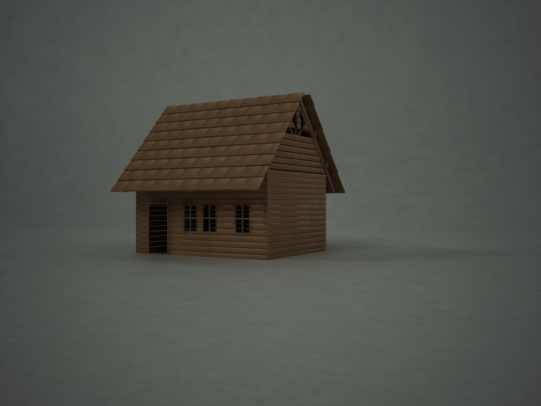 exploding house animation 3d model
