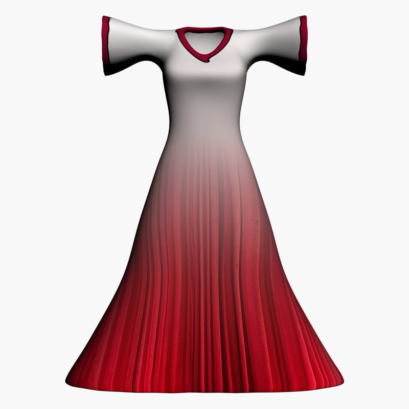3d female dress model