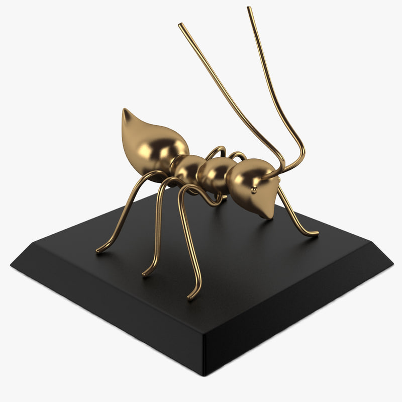 ant sculpture 3d model
