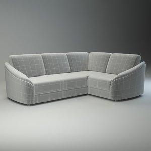 3d basic corner sofa donata