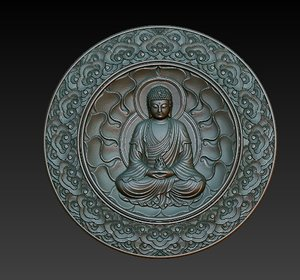 buddha relief obj