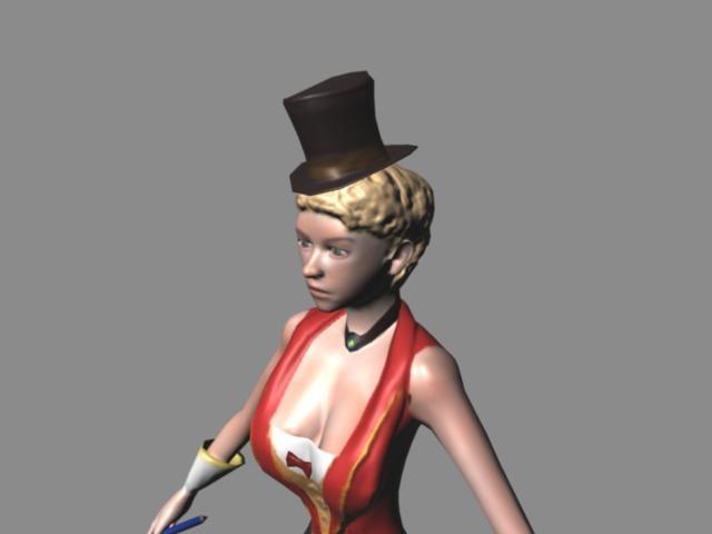 3d circus girl