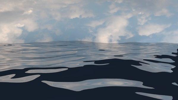 3d ocean animation