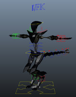 giger rig robot 3d model