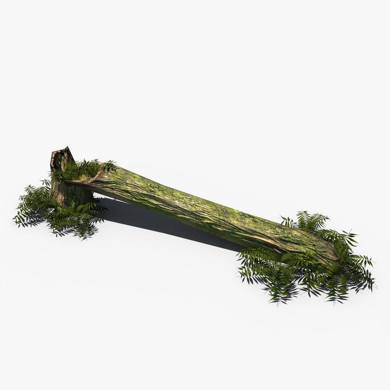 3d model of fallen tropical tree
