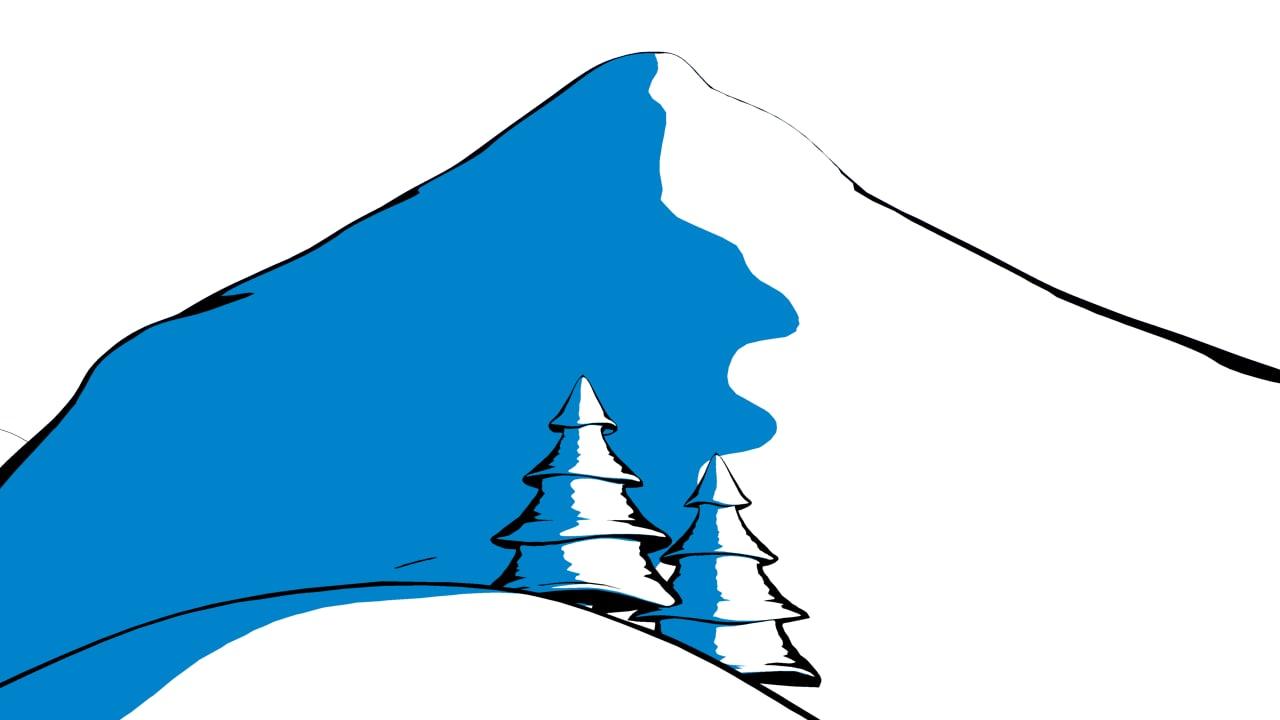 maya mountain tree cartoon