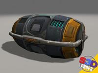maya sci-fi barrel