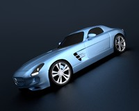 mercedes sls electric drive 3d model