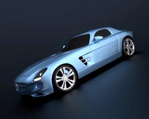 mercedes sls electric drive 3d model