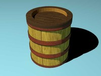 3d model of tower wooden