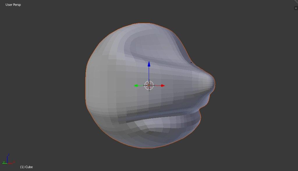 free obj model cartoon head