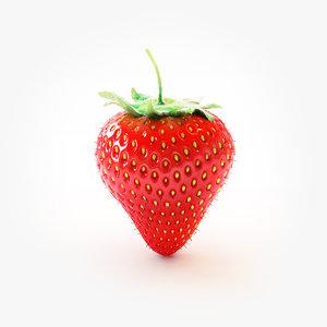 3d strawberry berry