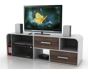 3d 3ds modern designer television cabinet