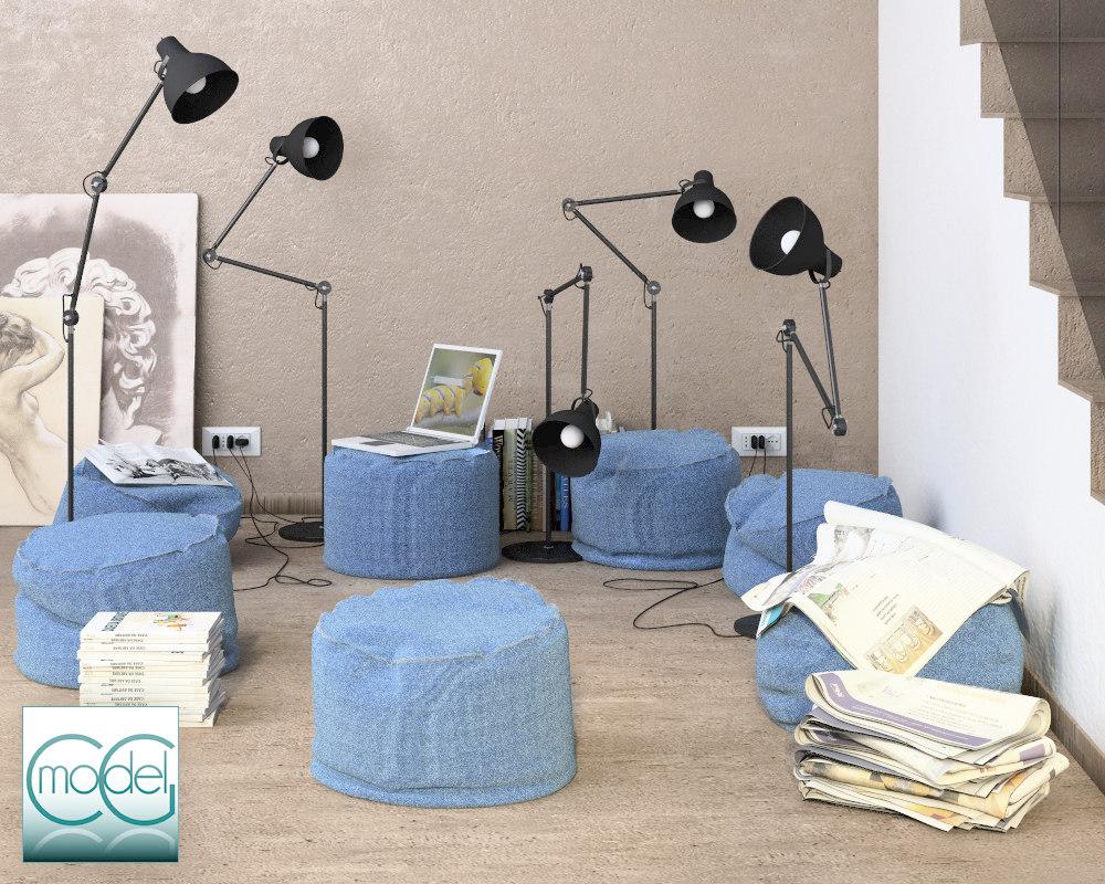 object interior set 3ds