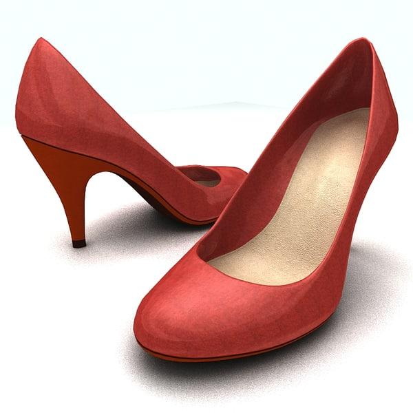 women platform shoes 3d model