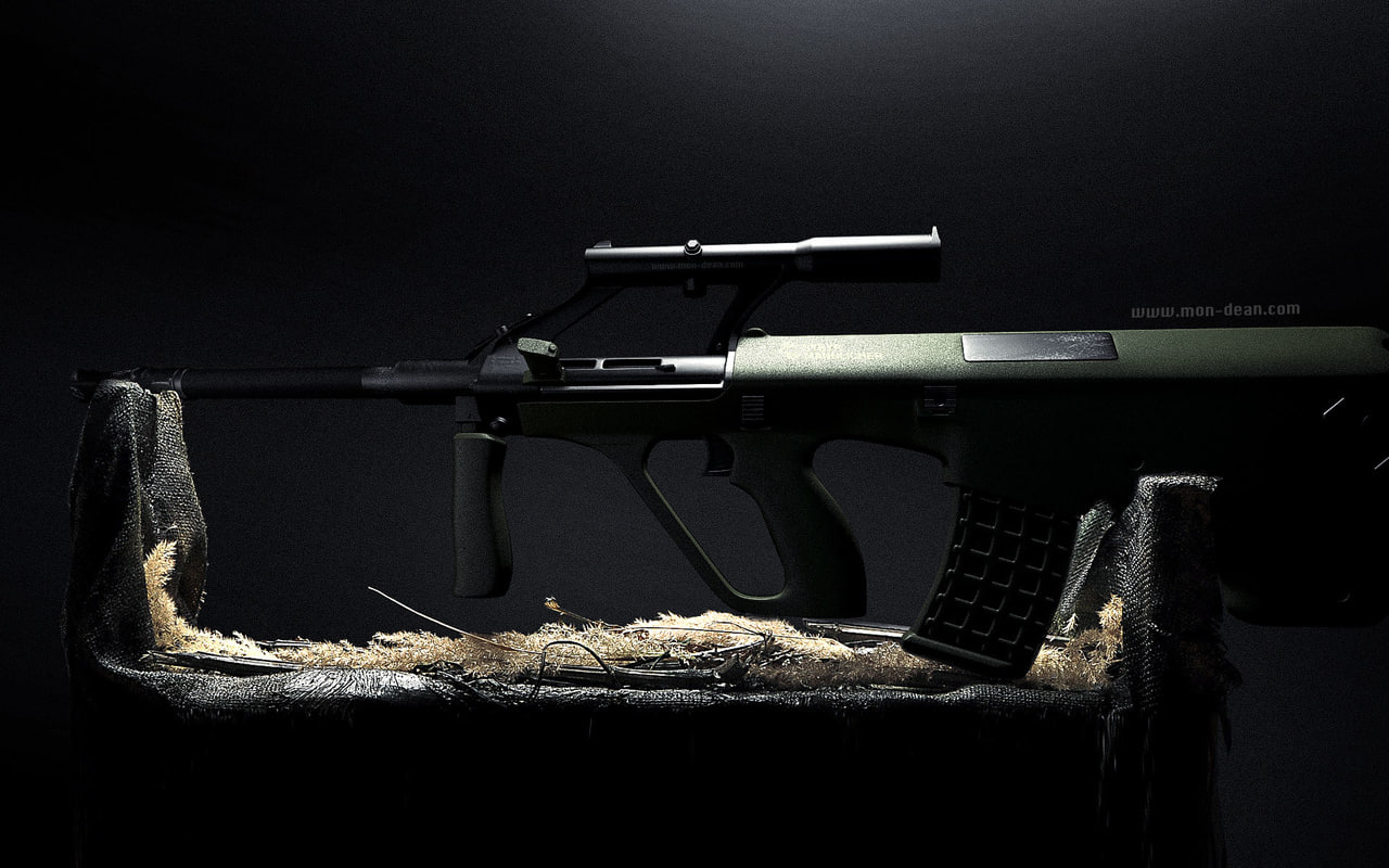 steyr aug a1 assault riffle 3d c4d