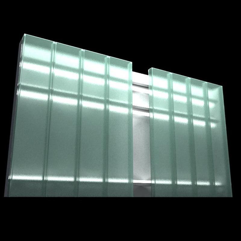 u-glass glass 3d model