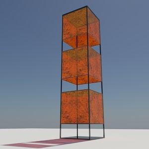 3d light holder decoration model