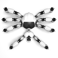 robot spider rigget 3d c4d