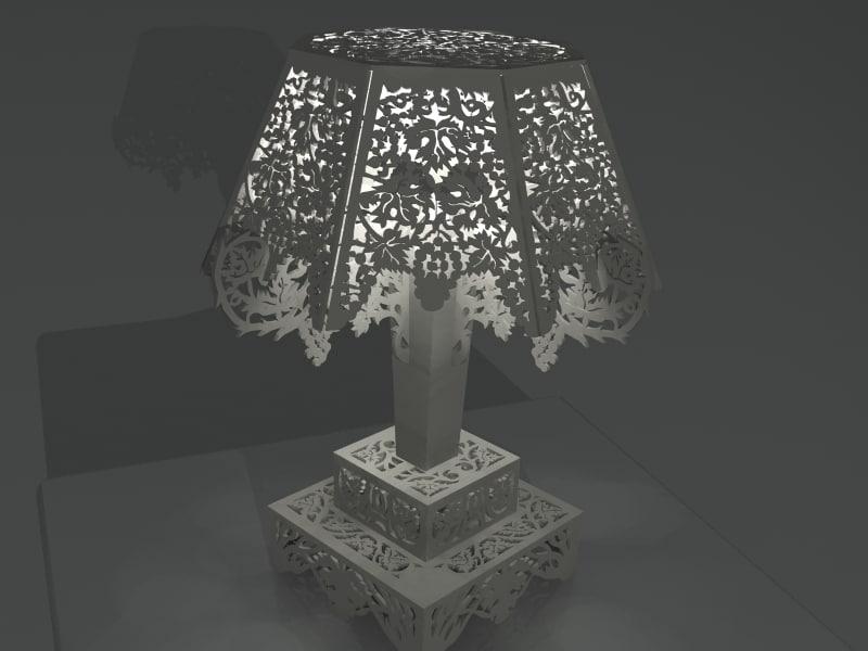 desk lamp 02 3d model