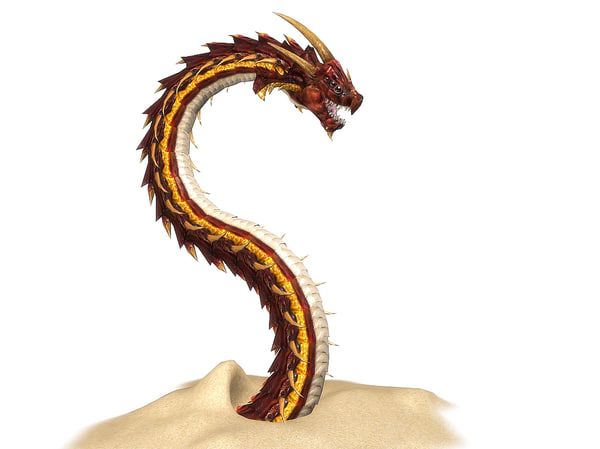 3dsmax dragon worm