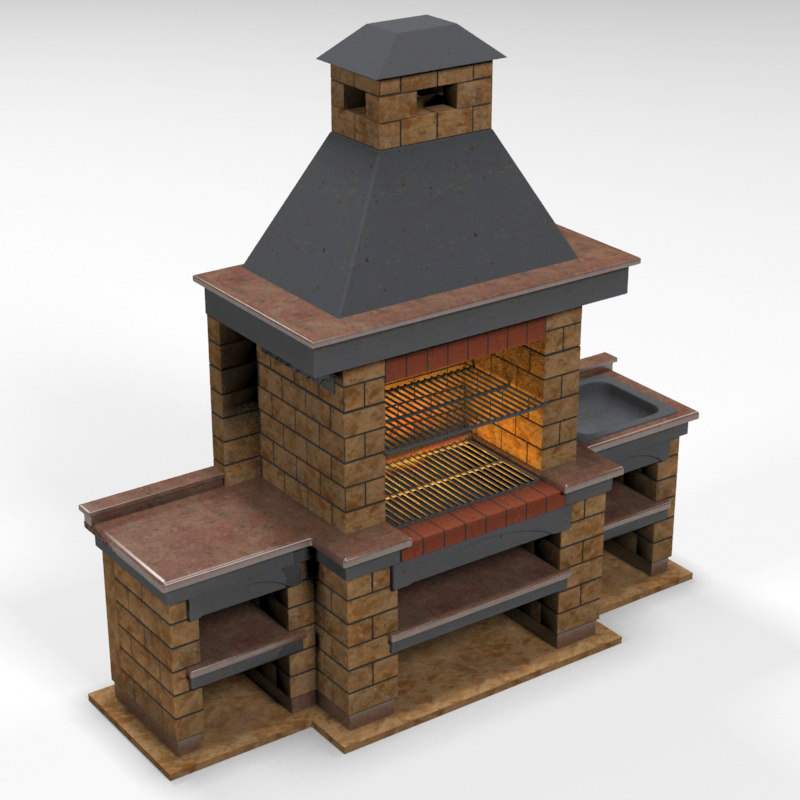3d Barbeque Brick