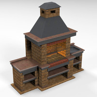 3d barbeque brick