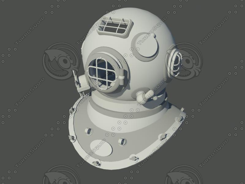 3ds max diving helmet