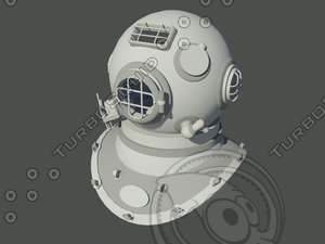 3ds max diving helmet