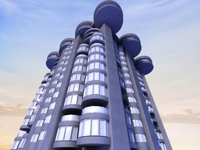3d 3ds city design building